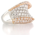 2.84ct Diamond 18k Two Tone Gold Ring