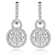 1.86ct Diamond 18k White Gold Dangle Earrings