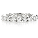 Diamond Platinum Eternity U Prong Wedding Band Ring