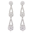 2.10ct Diamond 18k White Gold Dangle Earrings