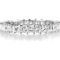Diamond Round Brilliant Cut Shared Prong Platinum Eternity Wedding Band Ring