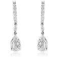 1.28ct Diamond 18k White Gold Dangle Earrings