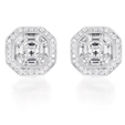 2.48ct Diamond Antique Style 18k White Gold Earrings