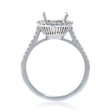 .24ct Diamond 18k White Gold Halo Engagement Ring Setting