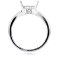 .46ct Diamond Antique Style 18k White Gold Engagement Ring Setting