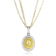 .56ct Diamond Antique Style 18k Two Tone Gold Pendant