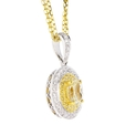 1.06ct Diamond Antique Style 18k Two Tone Gold Pendant