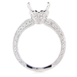 1.08ct Diamond Antique Style 18k White Gold Engagement Ring Setting