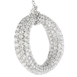3.70ct Diamond 18k White Gold Pendant Necklace