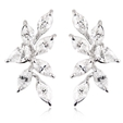 2.91ct Diamond 18k White Gold Cluster Earrings