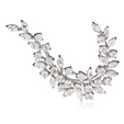 5.49ct Diamond 18k White Gold Brooch Pin