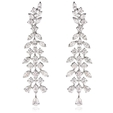 8.51ct Diamond 18k White Gold Chandelier Earrings