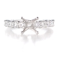 1.42ct Diamond 18k White Gold Engagement Ring Setting