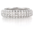 2.19ct Diamond 18k White Gold Eternity Wedding Band Ring