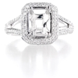 .64ct Diamond Platinum Halo Engagement Ring Setting