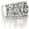 1.40ct Diamond 18k White Gold and Black Rhodium Ring