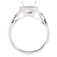 .34ct Diamond 18k White Gold Halo Engagement Ring Setting