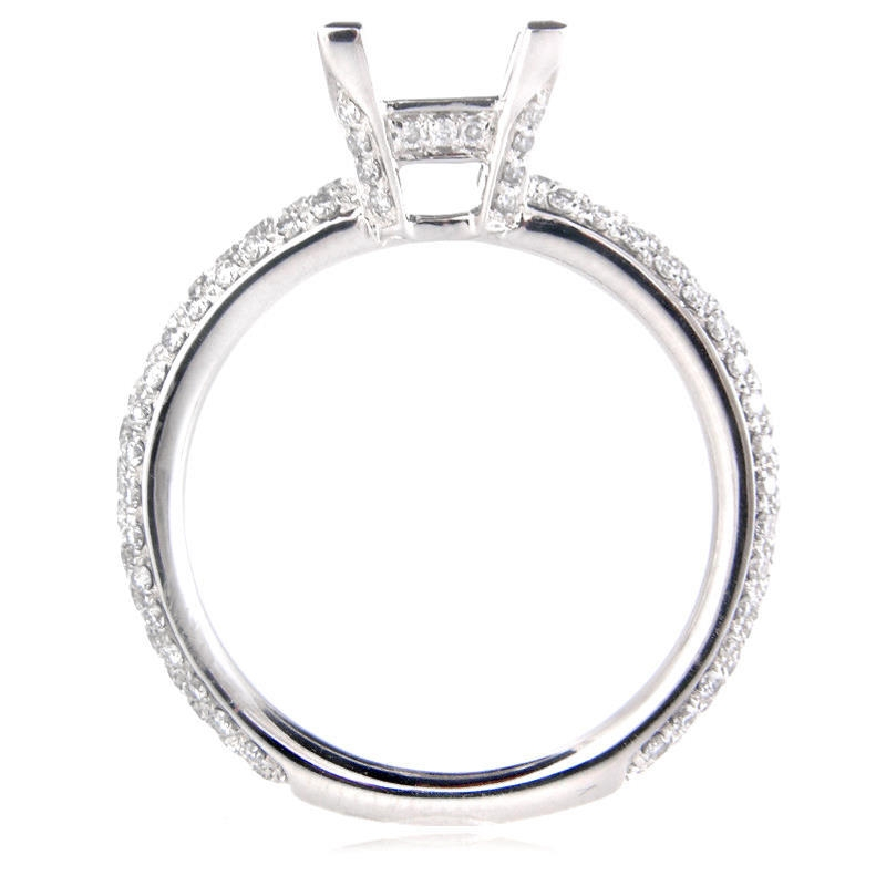 66ct Diamond Platinum Engagement Ring Setting