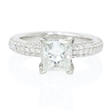 Diamond Platinum Engagement Ring Setting