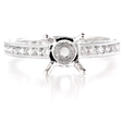 .63ct Diamond Antique Style Platinum Engagement Ring Setting