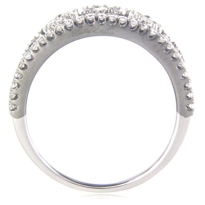 Diamond 18k White Gold And Black Rhodium Wedding Band Ring