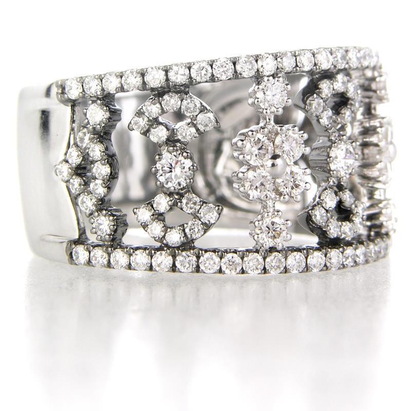 110ct Diamond 18k White Gold And Black Rhodium Wedding Band Ring