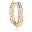 4.01ct Diamond 18k Rose Gold Hoop Earrings