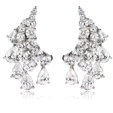 6.40ct Diamond 18k White Gold Chandelier Earrings