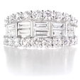 2.47ct Diamond 18k White Gold Wedding Band Ring