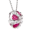 .71ct Diamond and Ruby 18k White Gold Pendant