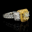 2.37ct Le Vian Diamond Antique Style 18k Two Tone Gold Engagement Ring