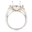 .68ct Simon G Diamond 18k Two Tone Gold Halo Engagement Ring Setting