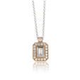 .24ct Simon G Diamond Antique Style 18k Pink Gold Pendant Necklace