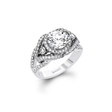 .90ct Simon G Diamond 18k White Gold Halo Engagement Ring Setting