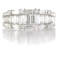 1.43ct Diamond 18k White Gold Wedding Band Ring