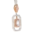 1.10ct Simon G Diamond Antique Style 18k Two Tone Gold Pendant Necklace
