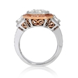 3.60ct Simon G Key to Her Heart Diamond Antique Style 18k Two Tone Gold Halo Mosaic Engagement Ring