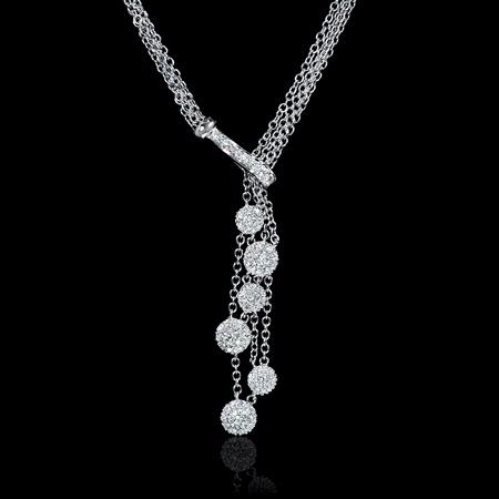 Diamond 18k White Gold Drop Necklace