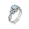 .58ct Simon G Diamond Antique Style Platinum Halo Engagement Ring Setting