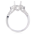 Natalie K Diamond 18k White Gold Engagement Ring Setting