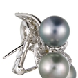 3.18ct Diamond and South Sea Pearl 18k Two Tone Gold Earrings