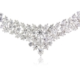 32.77ct Diamond 18k White Gold Graduated Necklace