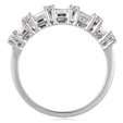 1.54ct Diamond 18k White Gold Wedding Band Ring