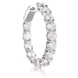 5.75ct Diamond 18k White Gold Hoop Earrings