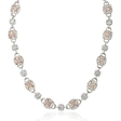 14.20ct Diamond 18k Two Tone Gold Necklace