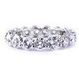 4.41ct Diamond Platinum Eternity Wedding Band Ring