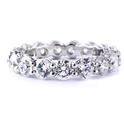 Diamond 4.41 Carats Platinum Eternity Wedding Band Ring