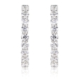 4.71ct Diamond 18k White Gold Hoop Earrings