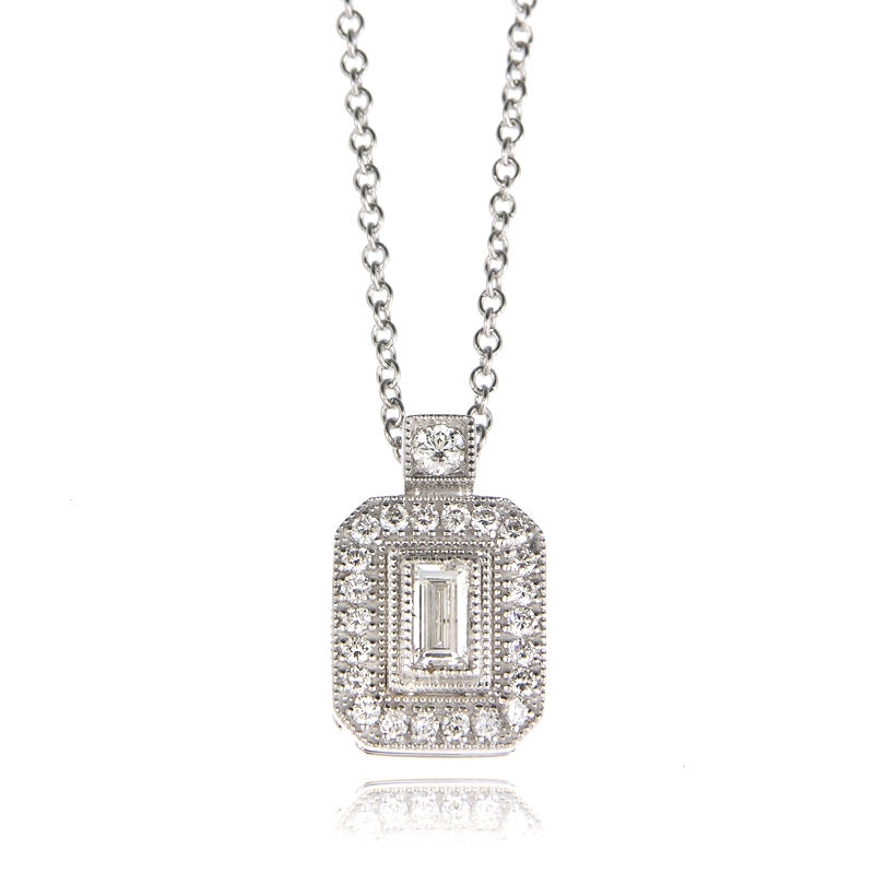 22ct simon g diamond antique style 18k white gold pendant necklace 22ct simon g diamond antique style 18k white gold pendant necklace mozeypictures Image collections