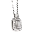 .22ct Simon G Diamond Antique Style 18k White Gold Pendant Necklace